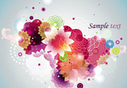 Colourful spring flower background