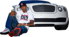 Juelz Santana and front of Bentley HQ PSD