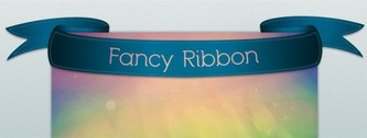 Fancy Blue Stitched Ribbon Banner PSD
