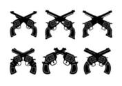 Collection of Vintage Gun Shapes