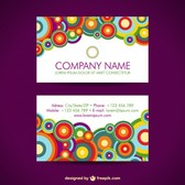 Business cards circles design