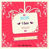 Vector mother's day gift card design