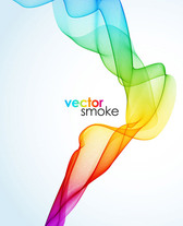 Colorful Vector Smoke Wave Background (Free)