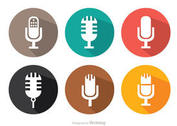 Flat Microphone Vector Pack