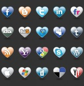 20 Love Hearts Social Media Vector Icons