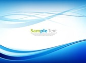 Awesome Abstract Blue Business Technology Wave