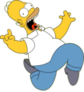 Homer Simpson Rock On PSD