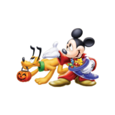 Mickey Mouse & Pluto Halloween PSD