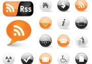 Web icons and RSS symbols
