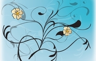 Vector Flowers with Floral Pattern