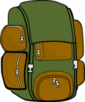 Backpack (Green/Brown)