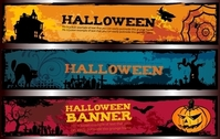 Template Halloween Banner Pack