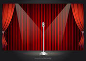 Free Vector Retro Theater Stage