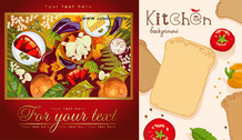 Vegetable Food Material Vector Poster Posters