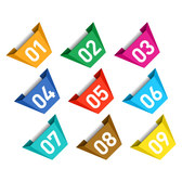 Free vector colorful tag