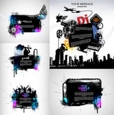 Vector Musical Theme Of The Trend Silhouette