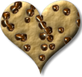 Chocolate Chip Heart Cookie PSD