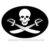 PIRATE FLAG VECTOR GRAPHICS.eps