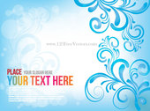 Free Blue Floral Abstract Background