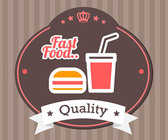 Fast food vector label