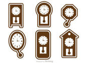 Wall Clock Icons Vector Pack