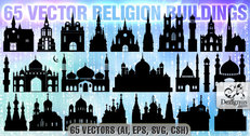 Vector Religion Buildings