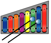 Xylophone (colourful)