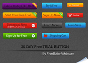 Free Vector Trial Button