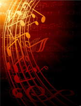 Sheet music with musical notes vector material fashion