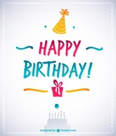 Happy Birthday Text Vector Retro Style