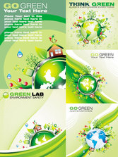Cartoon green polar coordinates