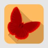 BUTTERFLY ICON VECTOR.eps
