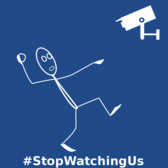 NSA Stop Watching Us - #204A87
