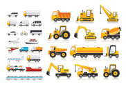 Variety Of Transport Vector Material Cars Trucks Bicycles