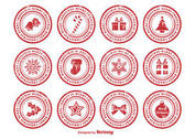 Distressed Christmas Rubber Stamps
