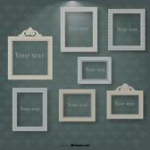 Frames in Spotlight on Vintage Background