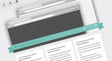 Ribbon - Free Website Template PSD