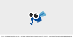 Free Vector Cute Insect Character