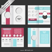 Bi-fold editable brochure mock-up