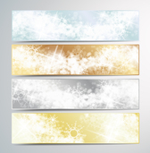 New year banners vector free download-4