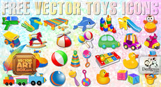 Free Vector Toys Icons