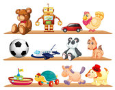 Beautiful toys for children vector-3