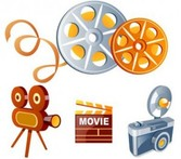 Elements and set 3D movie icons