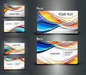 Dynamic Lines Of The Business Card Template - Vector Material Dynamic Lines Business Cards Line