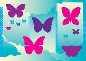 Free Butterflies Silhouettes
