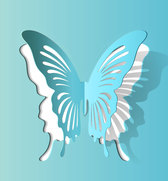 Butterfly paper cutting vector-2