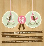Cartoon wedding card design