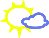 Very Light Clouds And Sun Weather Symbols