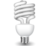Energy Saving Fluorescent Light Bulb Vector Free