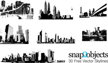 Free Vector Pack: 30 City Skylines